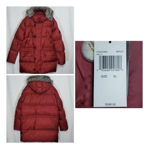 Michael Kors Down Fill Hooded Faux Fur Puffer Coat
